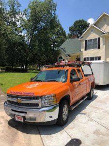 crime scene cleanup 911 Restoration orange truck